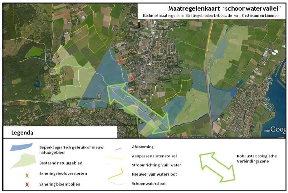 Castricum-schoonwater-kaart