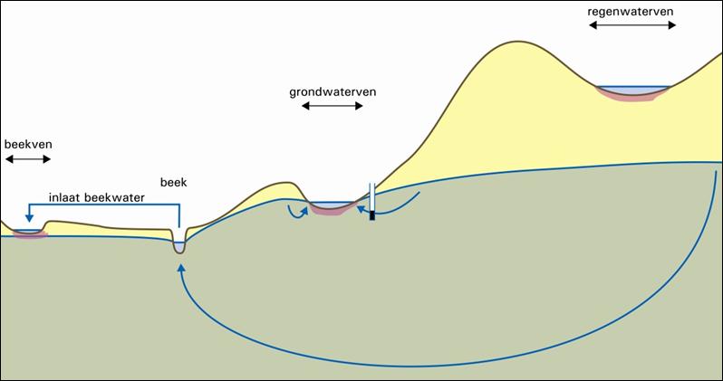 Schematische indeling van ventypen